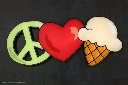 Peace Love and Icecream - LED-Logo