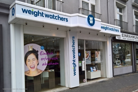 weight watchers - Lichtwerbung für Ladenlokal