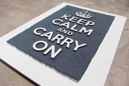 Keep calm and carry on - Grau/Weiss